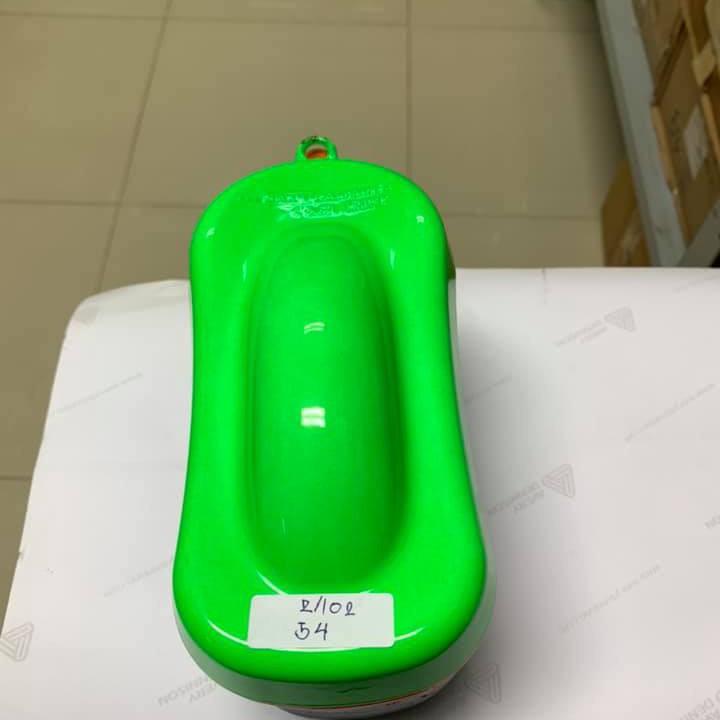 54 _ Sơn xit Samurai 54** màu xanh lá huỳnh quang  _ Fluorescent Green   sơn mâm xe máy và nhựa_ Tốt, giá rẻ, ship nhanh 9