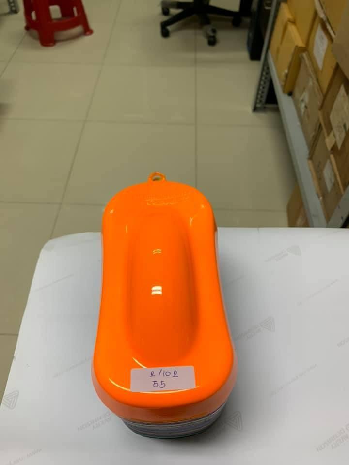 55 _ Chai sơn xịt sơn xe máy Samurai 55** màu cam huỳnh quang  _ Fluorescent Orange   sơn mâm xe máy và nhựa 7