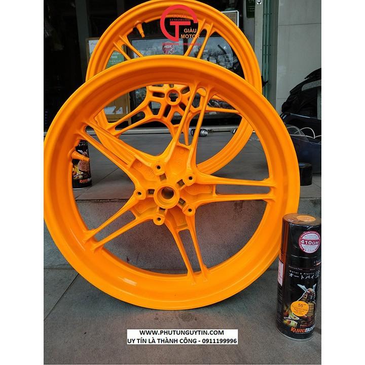 55 _ Chai sơn xịt sơn xe máy Samurai 55** màu cam huỳnh quang  _ Fluorescent Orange   sơn mâm xe máy và nhựa 8