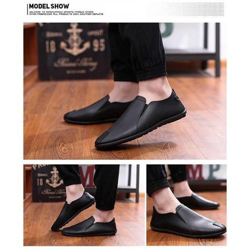 Giày  mọi da nam phong cách Hàn Quốc