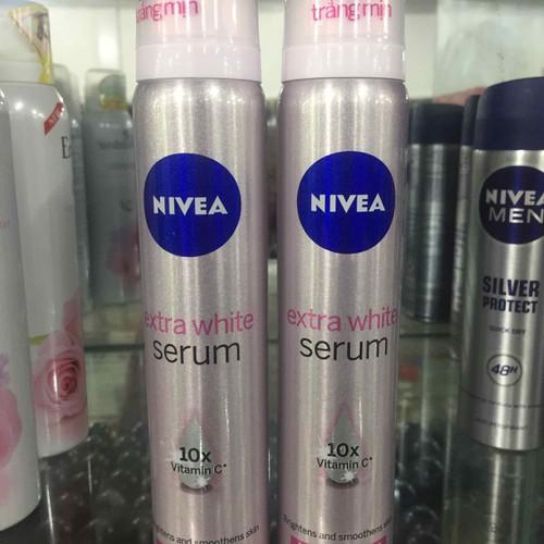 nivea xịt serum trắng mịn 150ml
