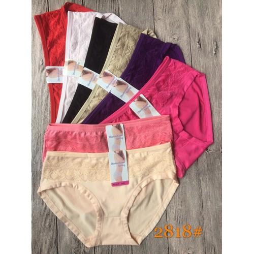 10 quần lót cotton phối ren