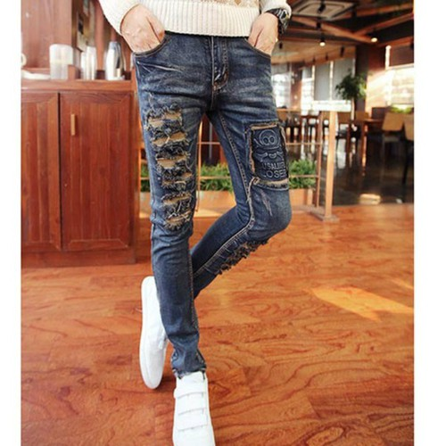 quần jeans rách đầu lâu loser Mã: ND0478