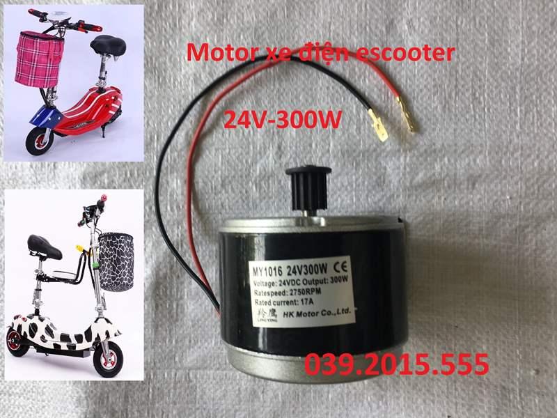 Motor xe điện escooter 24V 250W, chạy dây curoa 5M