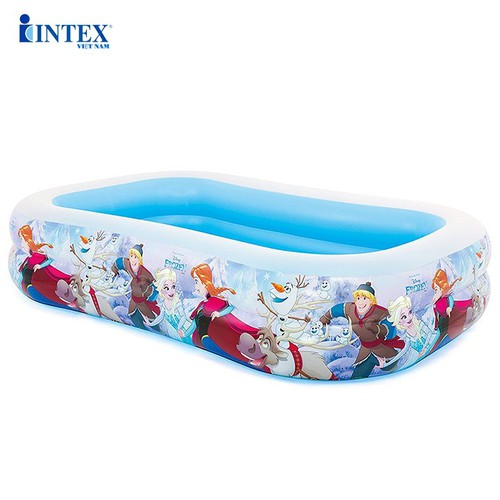 Bể bơi phao chữ nhật nữ hoàng băng giá Frozen INTEX 58469