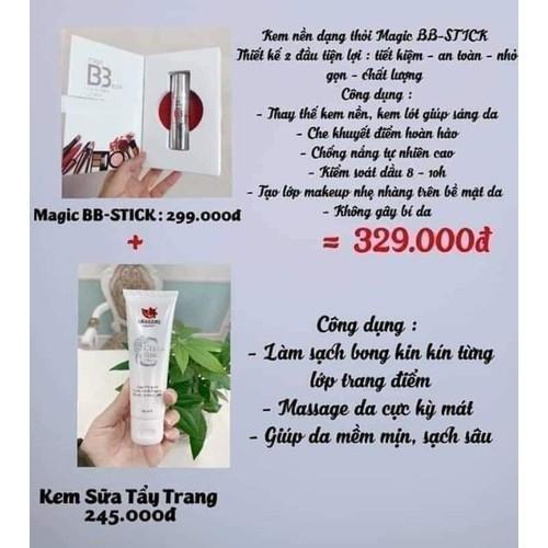 BB Stick Magic Linh Hương tặng kem sửa tẩy trang