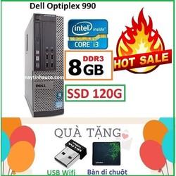 Đồng Bộ Dell Optiplex 990 Core i3 2100 , Ram 8G , SSD 120G , Tặng USB Wifi , Bàn di chuột , Bảo hành 24 tháng