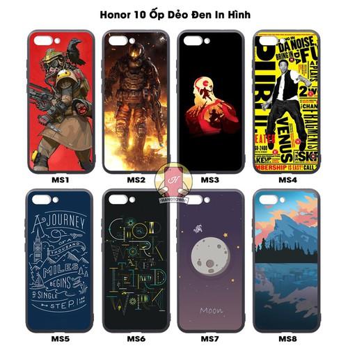 Ốp lưng Honor 10 dẻo đen in hình