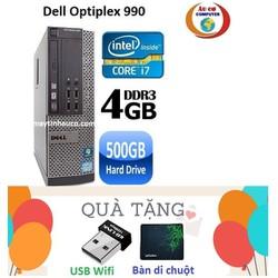 Đồng Bộ Dell Optiplex 990 Core i7 2600 , Ram 4G , 500G - Tặng USB Wifi , Bàn di chuột , Bảo hành 24 tháng