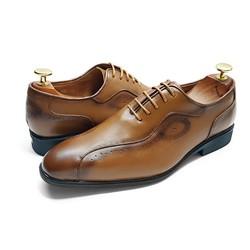 Giày Tây Nam Buộc Dây Da Bò Thật Siêu Bền VNXK CS52V