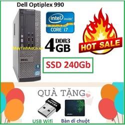 Đồng Bộ Dell Optiplex 990 Core i7 2600 , Ram 4G , SSD 240G , Tặng USB Wifi , Bàn di chuột , Bảo hành 24 tháng