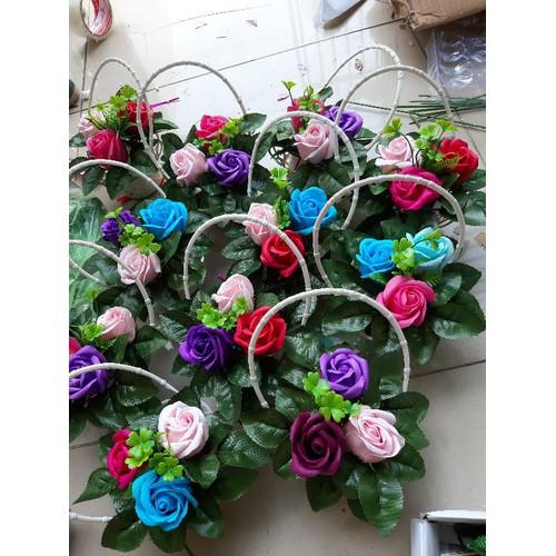 hoa sáp giỏ 3 bông - 7918278 , 17535768 , 15_17535768 , 25000 , hoa-sap-gio-3-bong-15_17535768 , sendo.vn , hoa sáp giỏ 3 bông