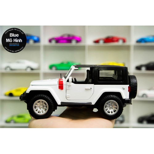 Xe mô hình Jeep Wrangler tỷ lệ 1:32 - Trắng