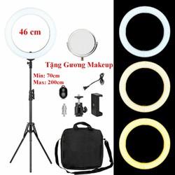 Đèn Hỗ Trợ Livestream Cực Đại 46CM, Chụp Hình Sản Phẩm, Makeup, Studio RL-18