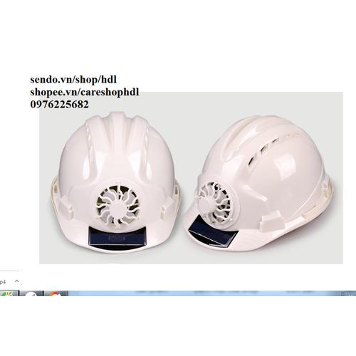 Mũ bảo hộ lao động có quạt làm mát bằng năng lượng mặt trời