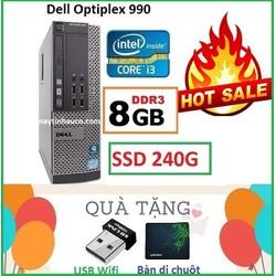 Đồng Bộ Dell Optiplex 990 Core i3 2100 , Ram 8G , SSD 240G , Tặng USB Wifi , Bàn di chuột , Bảo hành 24 tháng