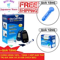 Máy đo đường huyết tiểu đường Acon Oncall Plus USA Tặng 1 hộp 25 que thử và 20 Chiếc Kim Lấy Máu