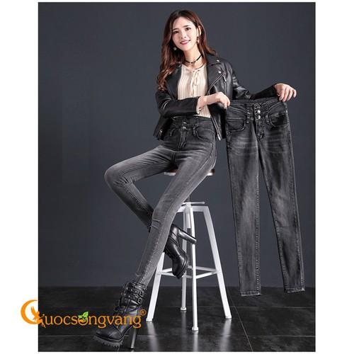 Quần jean nữ lưng cao màu xám quần jean dáng ôm eo cao GLQ112 - 4695292 , 17534859 , 15_17534859 , 390000 , Quan-jean-nu-lung-cao-mau-xam-quan-jean-dang-om-eo-cao-GLQ112-15_17534859 , sendo.vn , Quần jean nữ lưng cao màu xám quần jean dáng ôm eo cao GLQ112