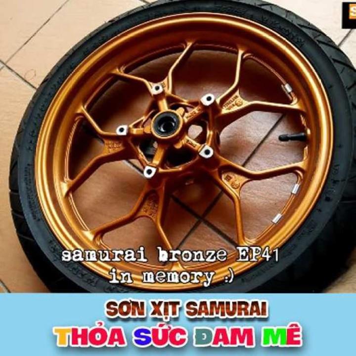 EP41 _ Sơn xit Samurai EP41 màu đồng lốc máy _ Bronze _Tốt, giá rẻ, ship nhanh 5
