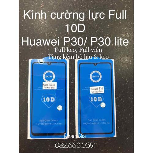 Kính cường lực Huawei p30 lite Full 10D tặng bộ lau