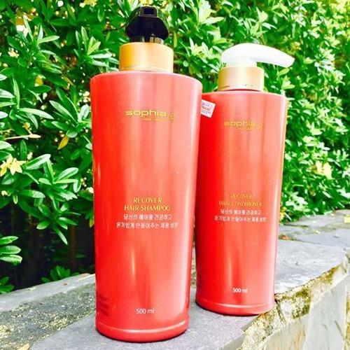 Cặp dầu gội xả siêu dưỡng tóc Sophia Seoul Golden Recovery Hair Shampoo Hàn Quốc #500mlx2