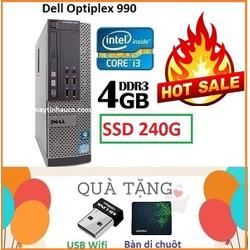 Đồng Bộ Dell Optiplex 990 Core i3 2100 , Ram 4G , SSD 240G , Tặng USB Wifi , Bàn di chuột , Bảo hành 24 tháng