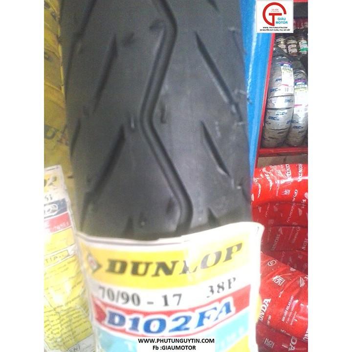 Lốp xe Dunlop  70.90-17 Vỏ xe máy Dunlop size 70.90-17 D102 TL 38P_Trùm Dunlop Việt Nam, giá rẻ, uy tín, chất lượng 9
