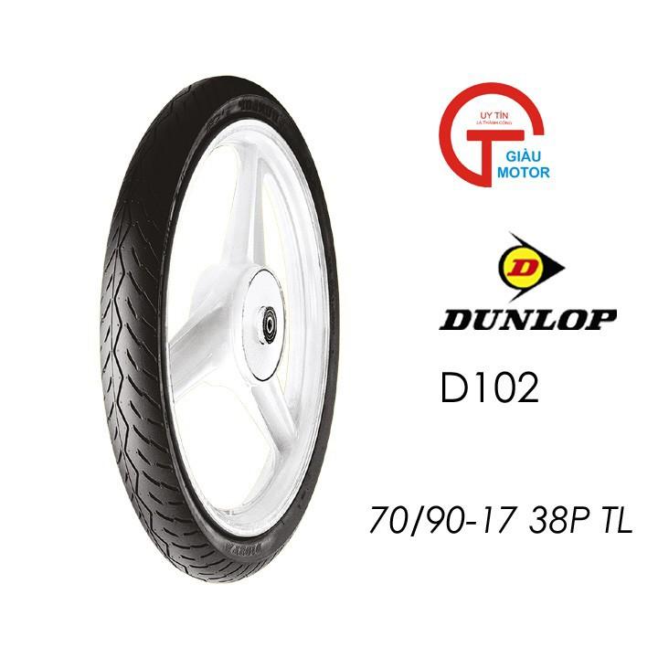 Lốp xe Dunlop  70.90-17 Vỏ xe máy Dunlop size 70.90-17 D102 TL 38P_Trùm Dunlop Việt Nam, giá rẻ, uy tín, chất lượng 5