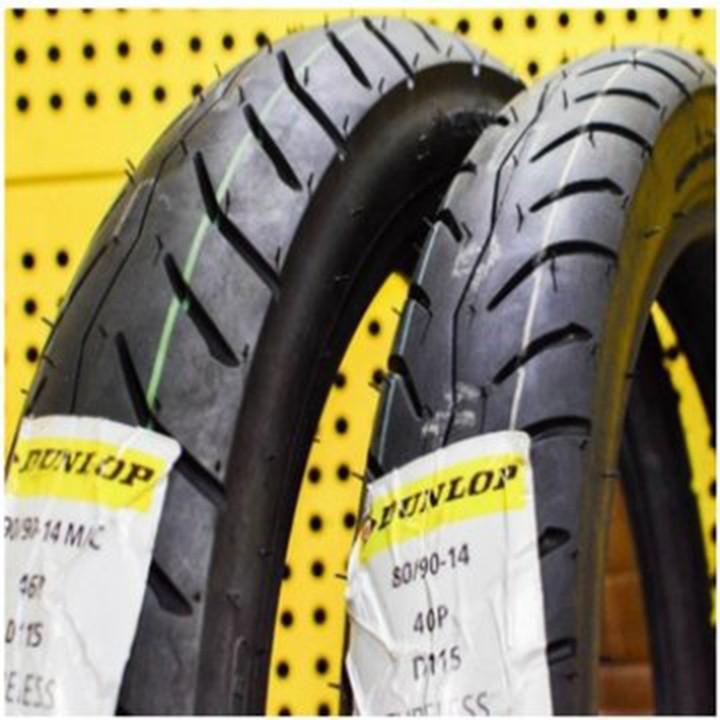 Lốp xe Dunlop 80-90-14 D115 TL Vỏ xe máy Dunlop size 80.90-14 D115 TL 40P Trùm Dunlop Việt Nam, giá rẻ, uy tín 5