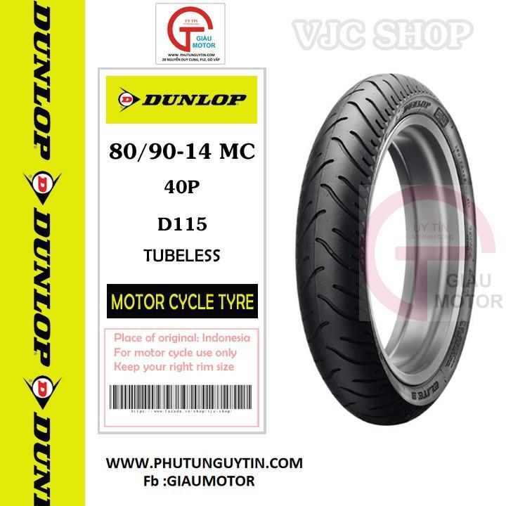 Lốp xe Dunlop 80-90-14 D115 TL Vỏ xe máy Dunlop size 80.90-14 D115 TL 40P Trùm Dunlop Việt Nam, giá rẻ, uy tín 8