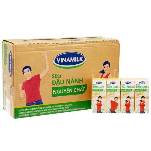 Thùng sữa đậu nành Vinamilk 48 hộp 200ml - lốc 4 hộp