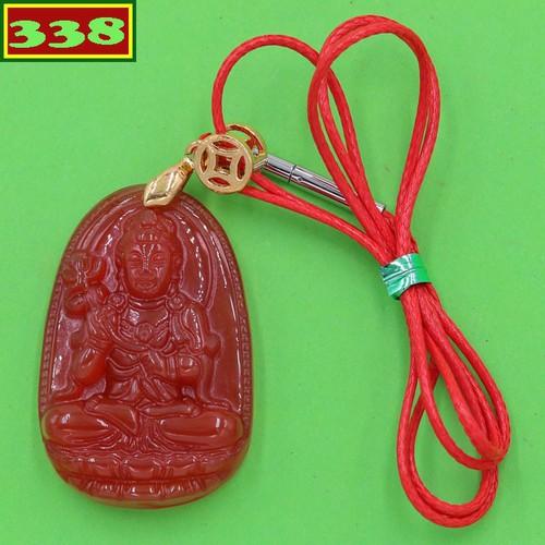 Vòng cổ Đại Thế Chí bồ tát thạch anh đỏ 3.6 cm DOTOB4 size nhỏ - Hộ mệnh người tuổi Ngọ