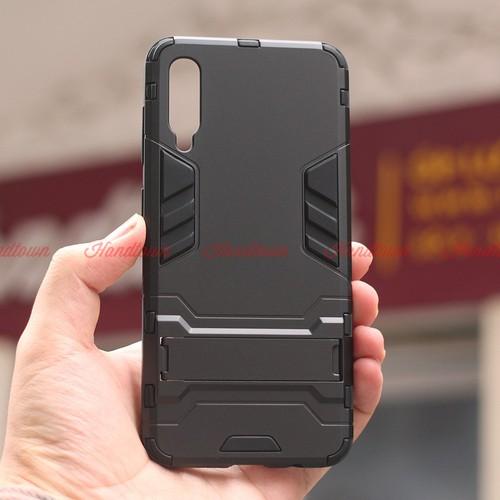 Ốp Lưng Cho Samsung Galaxy A50 IRON - MAN Nhựa PC Cứng Viền Dẻo Chống Sốc
