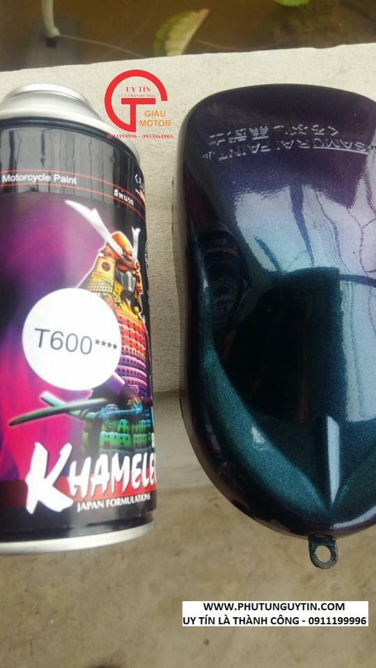 T600 _ sơn xịt Samurai paint K7- T600 màu 3D xanh đá  đổi màu theo góc nhìn, shop uy tín, giá rẻ, giao nhanh 6