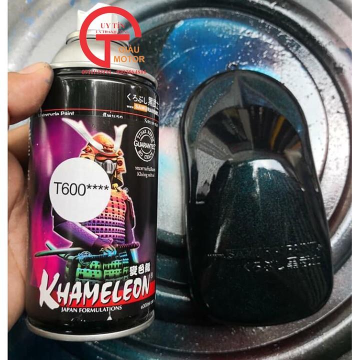 T600 _ sơn xịt Samurai paint K7- T600 màu 3D xanh đá  đổi màu theo góc nhìn, shop uy tín, giá rẻ, giao nhanh 7