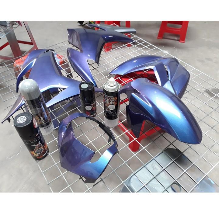 T901 _ sơn xịt Samurai paint K6 - T901 màu 3D xanh ánh tím  đổi màu theo góc nhìn, uy tín, giá rẻ, giao nhanh 6