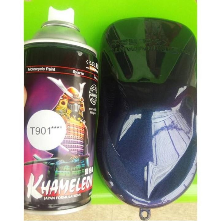 T901 _ sơn xịt Samurai paint K6 - T901 màu 3D xanh ánh tím  đổi màu theo góc nhìn, uy tín, giá rẻ, giao nhanh 5