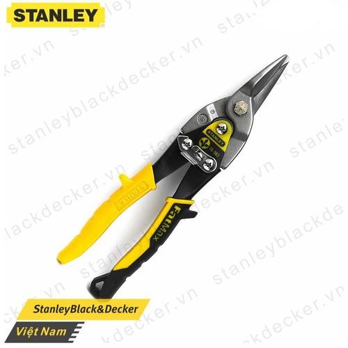 Chính Hãng - Kéo cắt tôn MAXSTEEL mũi thẳng cán vàng 10in-254mm Stanley 14-563