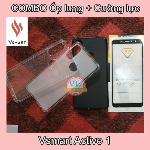 COMBO ốp lưng Active 1 & Cường lực Full màn 5D, tặng keo chống hở mép, Phụ kiện Vsmart