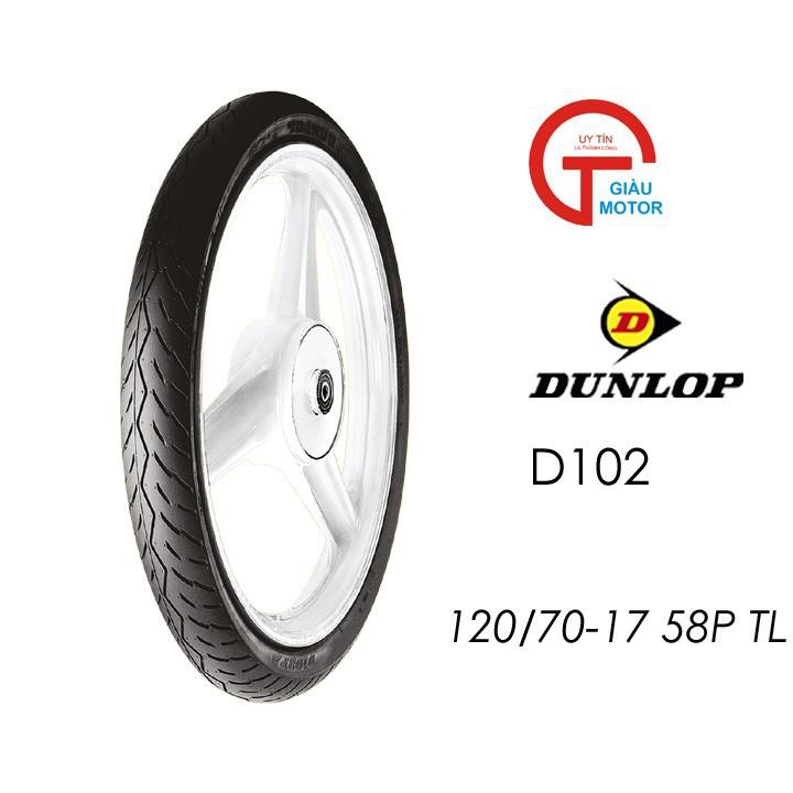 Vỏ xe máy Dunlop 120-70-17  D102 Lốp  xe máy Dunlop 120-70-17 D102 _ Tổng Dunlop Việt Nam, giá rẻ, uy tín, chất lượng 6
