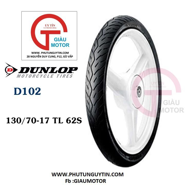 Vỏ xe máy Dunlop 130.70-17  D102 - Lốp  xe máy Dunlop 130-70-17 D102 _Tổng Dunlop Việt Nam, giá rẻ, uy tín, chất lượng 2