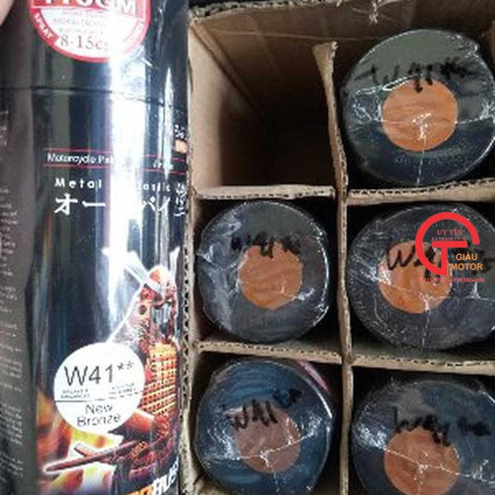W41 _Sơn xit Samurai w41 màu ĐỒNG kim loại sơn mâm _ NEW BRONZE  Tốt, giá rẻ, giao nhanh 7