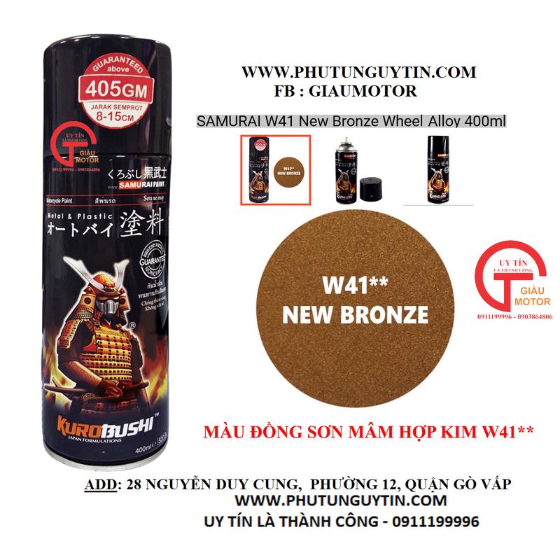 W41 _Sơn xit Samurai w41 màu ĐỒNG kim loại sơn mâm _ NEW BRONZE  Tốt, giá rẻ, giao nhanh 2