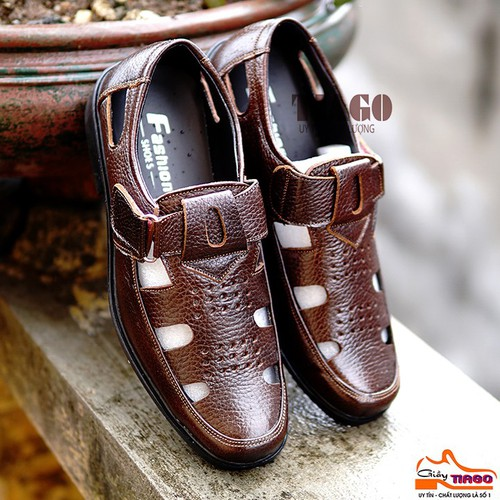 giày rọ nam da bò cao cấp