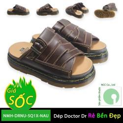 Giày dép nữ Doctor Dr giá rẻ - Quai ngang đan chéo kiểu dáng mới nhất 2019 - NMH-DRNUNA-5Q1X - Nâu Đen