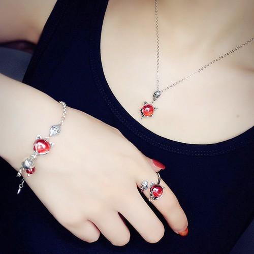 Bộ Trang Sức Silver S925 Bảo Ngọc Jewelry Lựu Hồ Ly