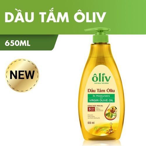 Dầu tắm dưỡng da Oliu Oliv Natural Nourish Virgin Olive Oil 650ml CHINH HANG