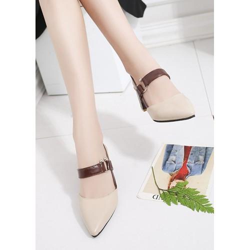 Giày cao gót nữ gót vuông GCG02