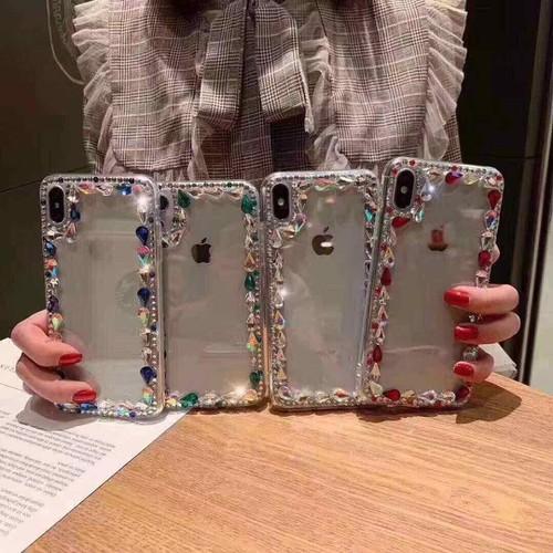 Ốp lưng đính đá iPhone Xmax iPhone X 7Plus 8Plus