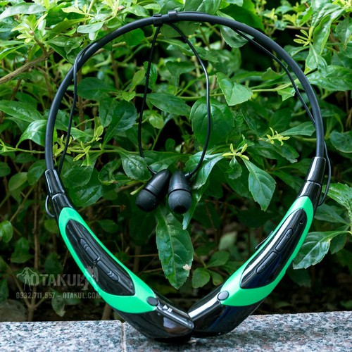 Tai Nghe Bluetooth - Đen Xanh Lá - Vocaloid